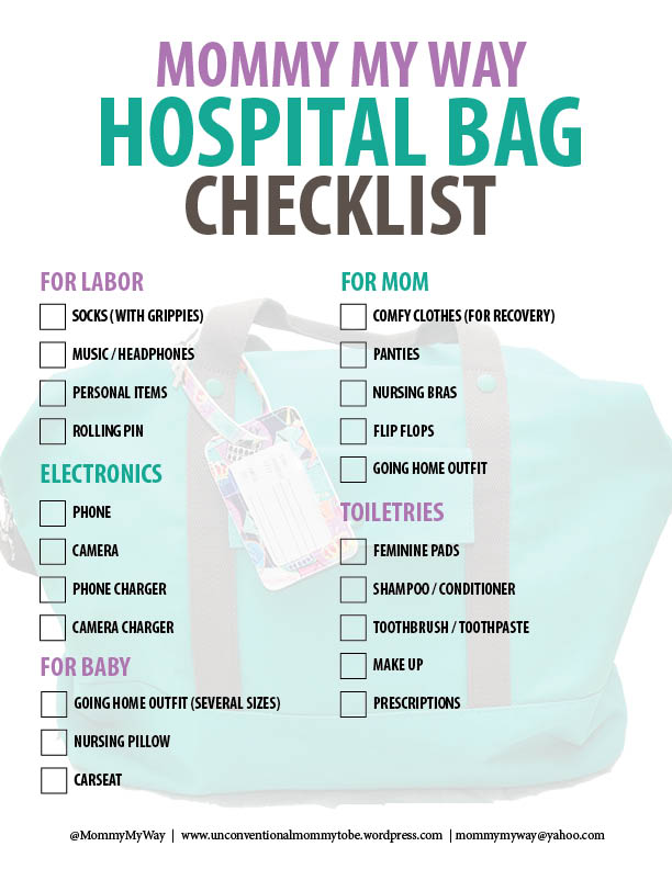 pregnancy hospital bag checklist pdf