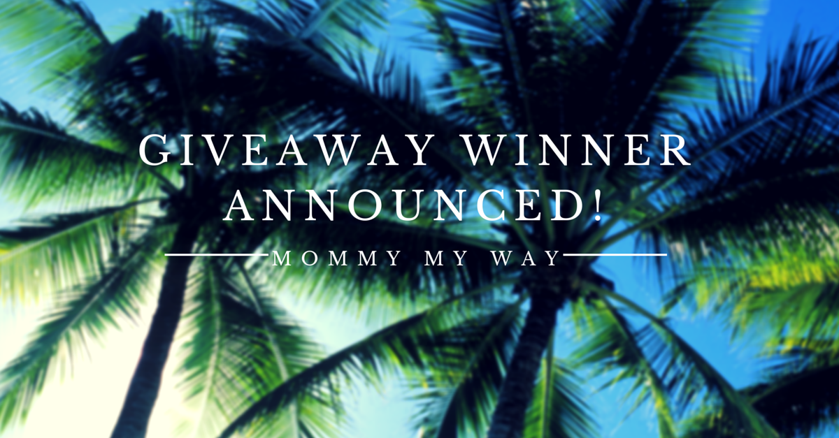 Mommy My Way Giveaway Winner!