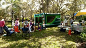 bounce house hot dog cart birthday party