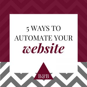 automate your website