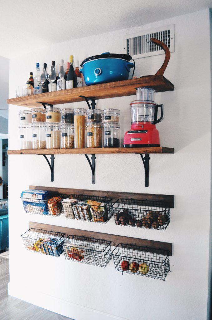 Kitchen Upgrade Diy Open Shelves Mommy My Way